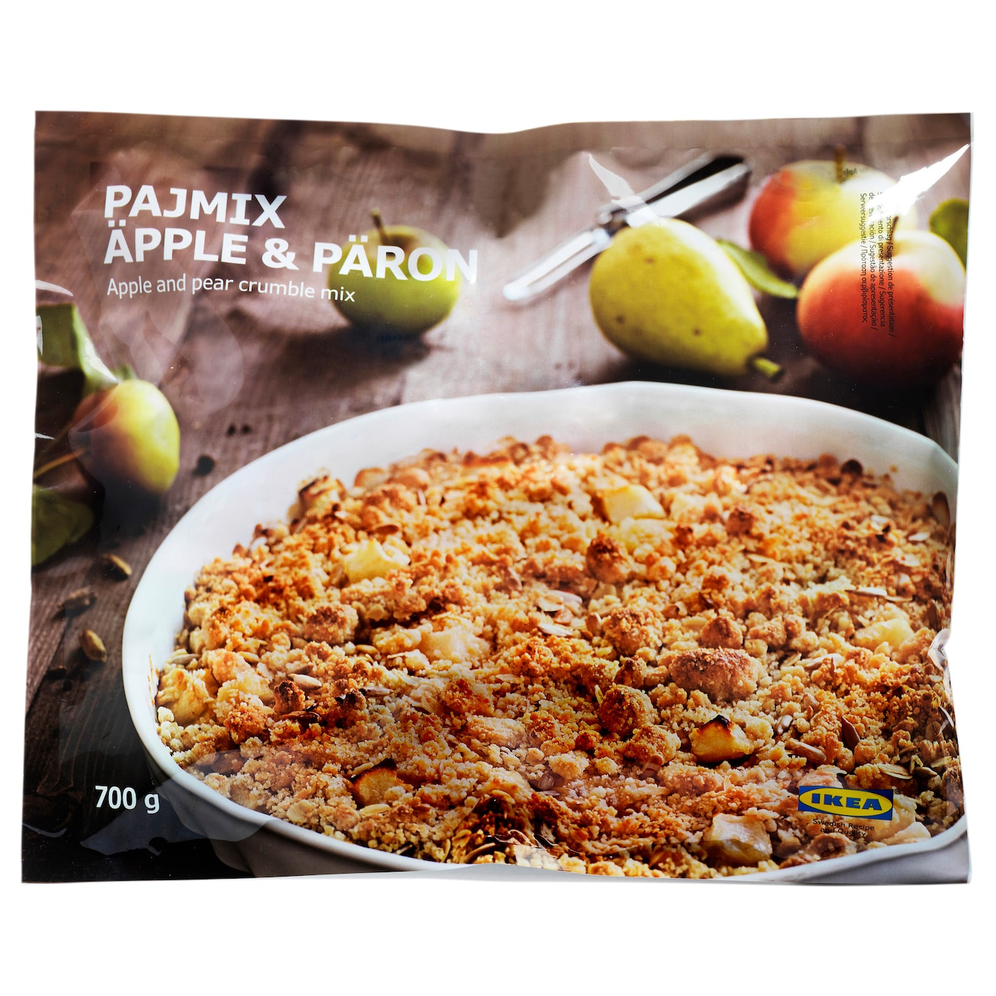 IKEA PAJMIX ÄPPLE & PÄRON apple & pear crumble, frozen