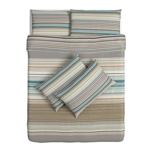 palmlilja quilt cover and 4 pillowcases beige 200x200. Black Bedroom Furniture Sets. Home Design Ideas
