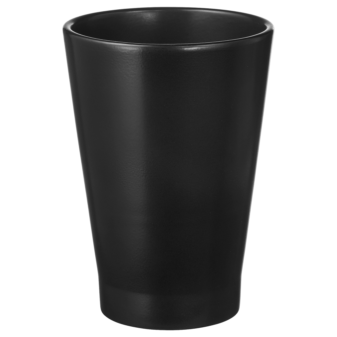 Papaja plant pot black 12 x 19 cm ikea for Black planters ikea