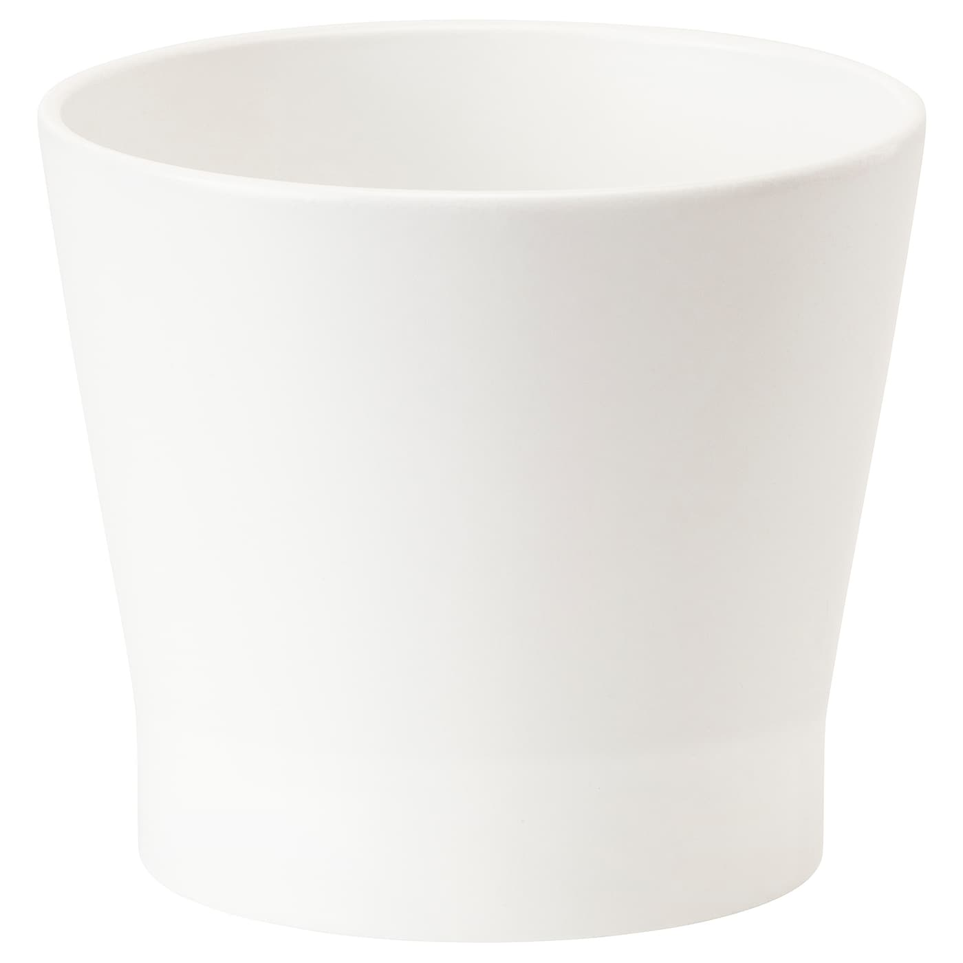IKEA PAPAJA plant pot Lacquered interior; makes the plant pot waterproof.