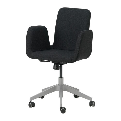 IKEA PATRIK swivel chair You sit comfortably since the chair is adjustable in height.