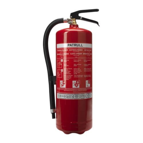 PATRULL Fire extinguisher, dry powder IKEA This fire extinguisher is suitable for fires in the home involving e.  g.