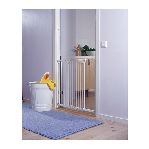 Ikea Bett Ohne Mittelbalken ~ IKEA PATRULL KLÄMMA safety gate The gate opens both inwards and