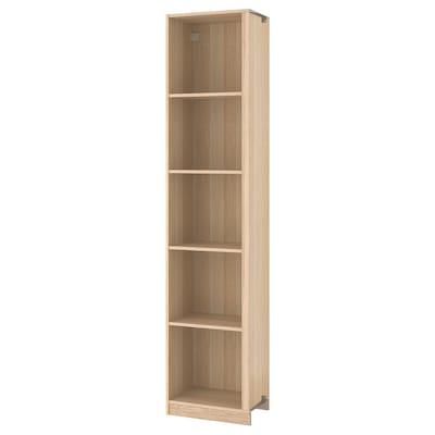 PAX add-on corner unit with 4 shelves white stained oak effect 52.5 cm 53 cm 35.5 cm 236.4 cm 35 cm 236 cm