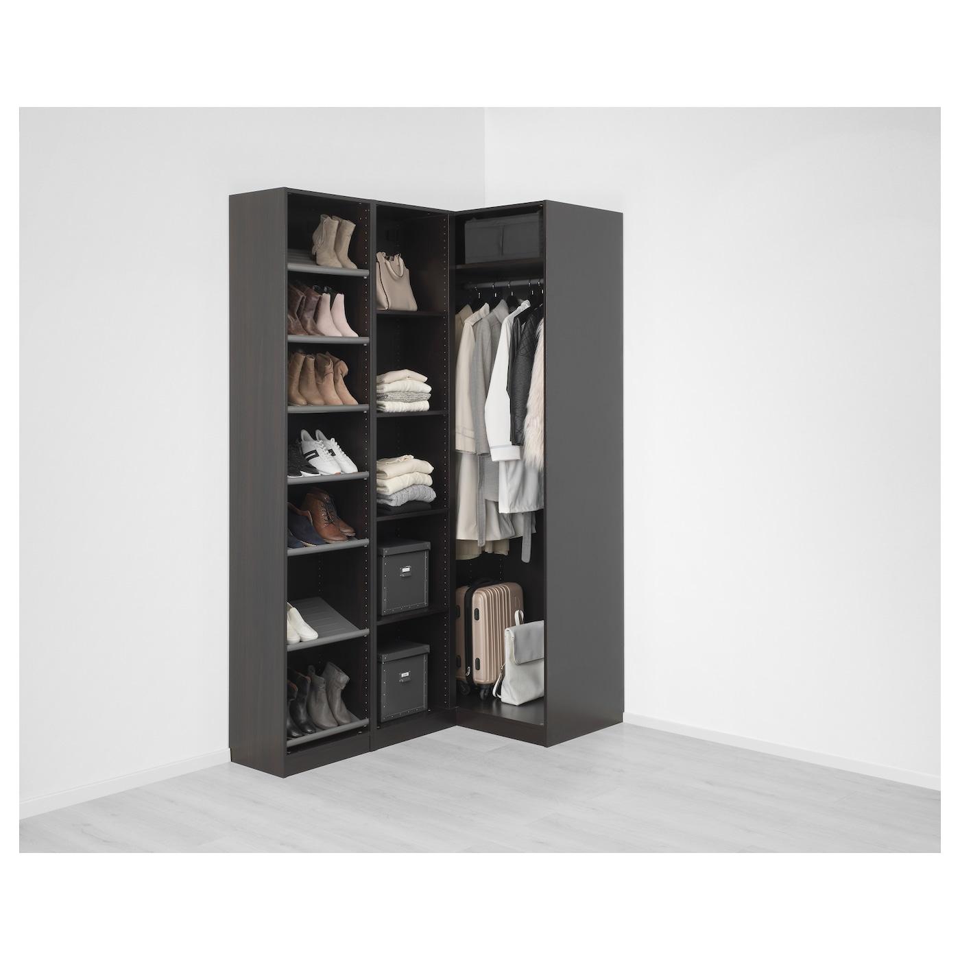 Pax corner wardrobe black brown nexus vikedal 160 88x236 - Armarios roperos de ikea ...