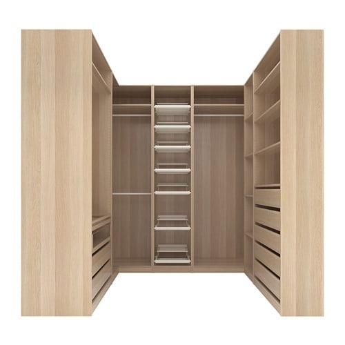 Pax corner wardrobe white stained oak effect 210 273 - Ikea armadio angolare ...
