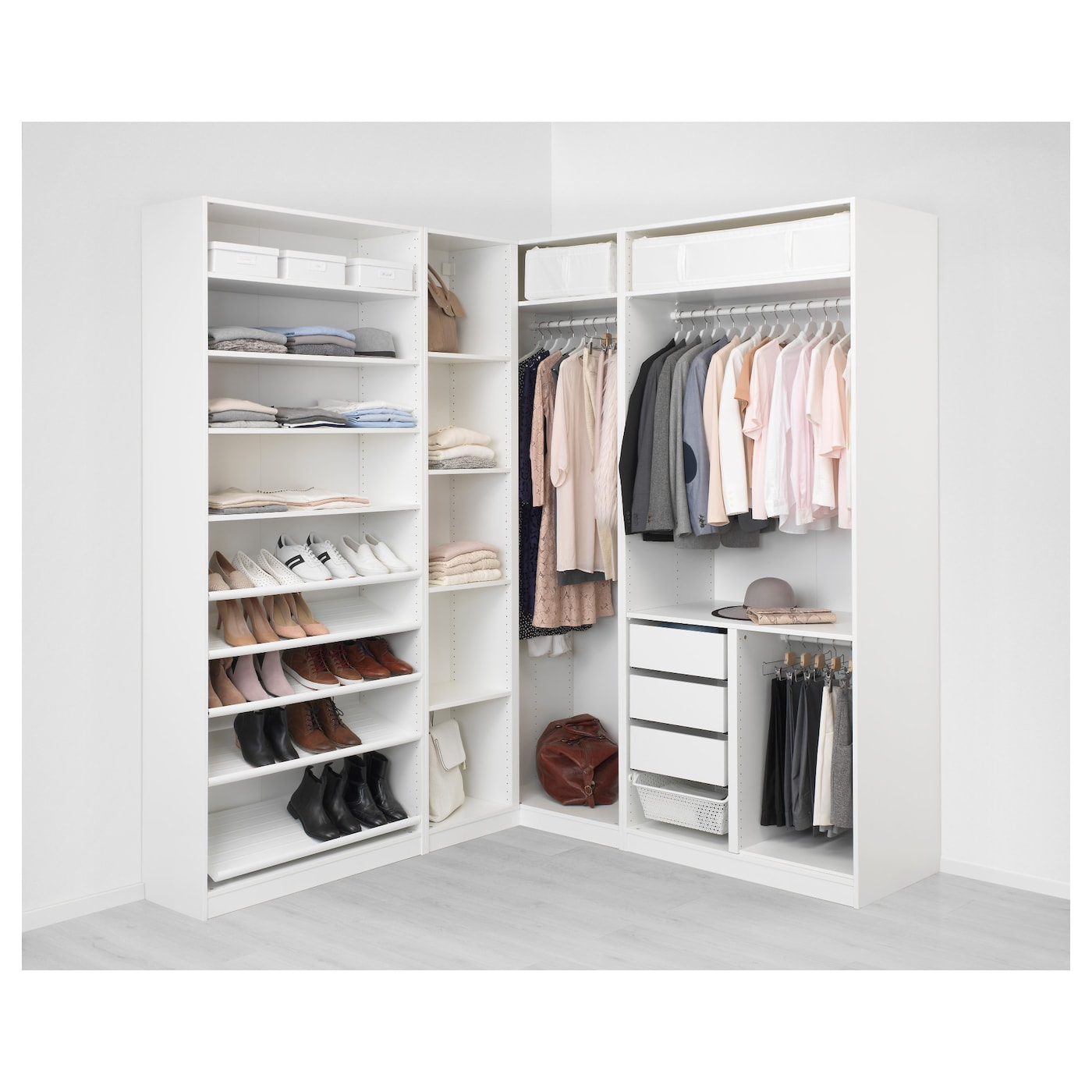 pax corner wardrobe white tyssedal tyssedal glass 210 188x236 cm ikea. Black Bedroom Furniture Sets. Home Design Ideas