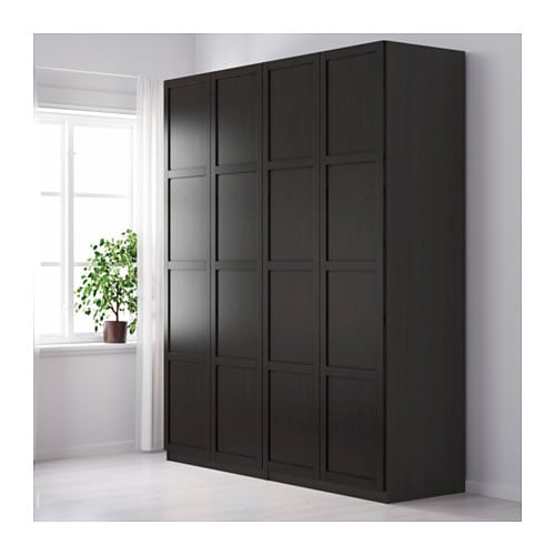 PAX Wardrobe Black brown hemnes black brown 200x60x236 cm IKEA