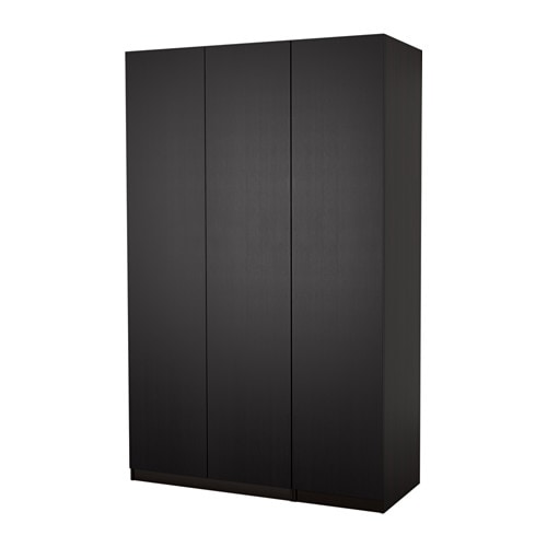 pax wardrobe black brown nexus black brown 150x60x236 cm. Black Bedroom Furniture Sets. Home Design Ideas