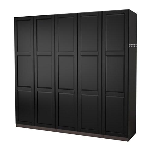 pax wardrobe black brown undredal black 250x60x201 cm ikea. Black Bedroom Furniture Sets. Home Design Ideas