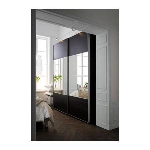 Pax wardrobe black brown auli ilseng 200x66x236 cm ikea - Porte coulissante interieur ikea ...
