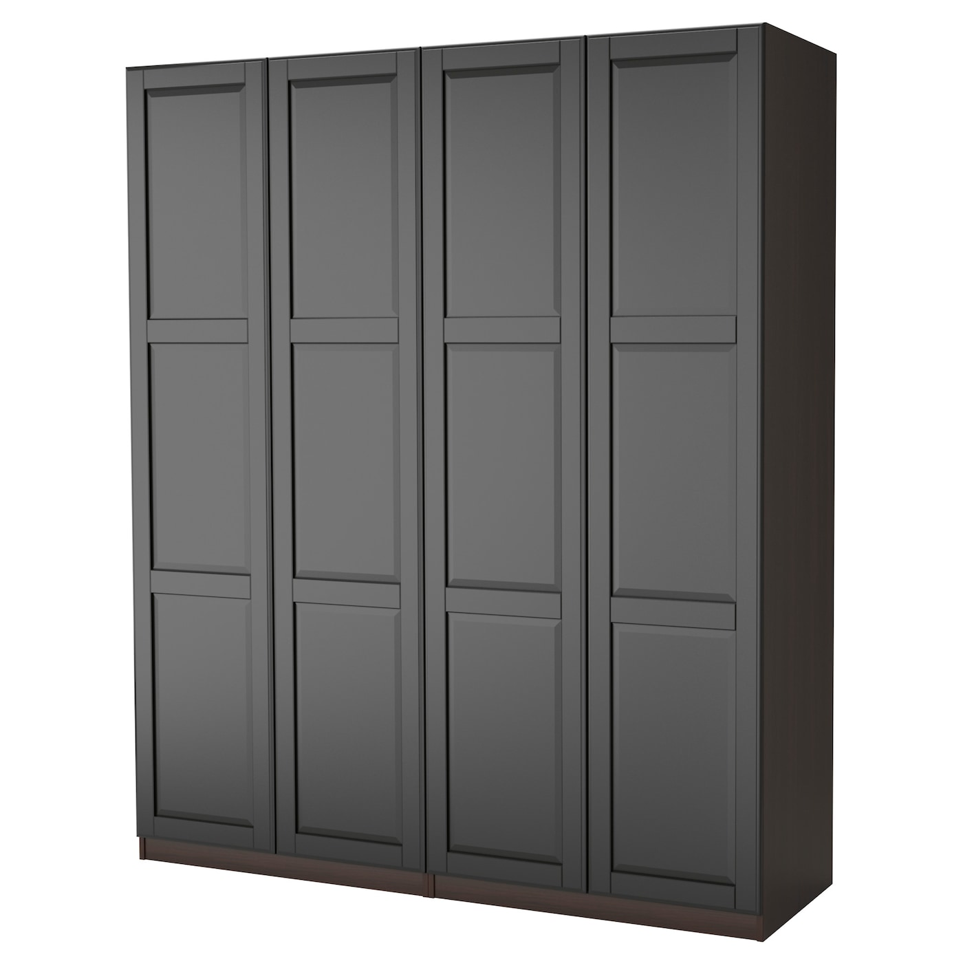 pax wardrobe black brown undredal black 200x60x201 cm ikea. Black Bedroom Furniture Sets. Home Design Ideas