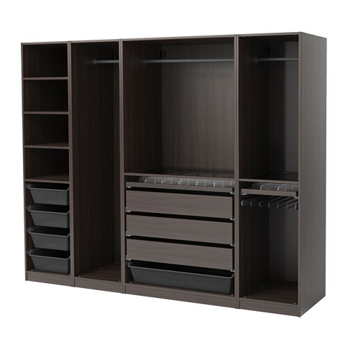 pax wardrobe black brown 250x58x201 cm ikea. Black Bedroom Furniture Sets. Home Design Ideas