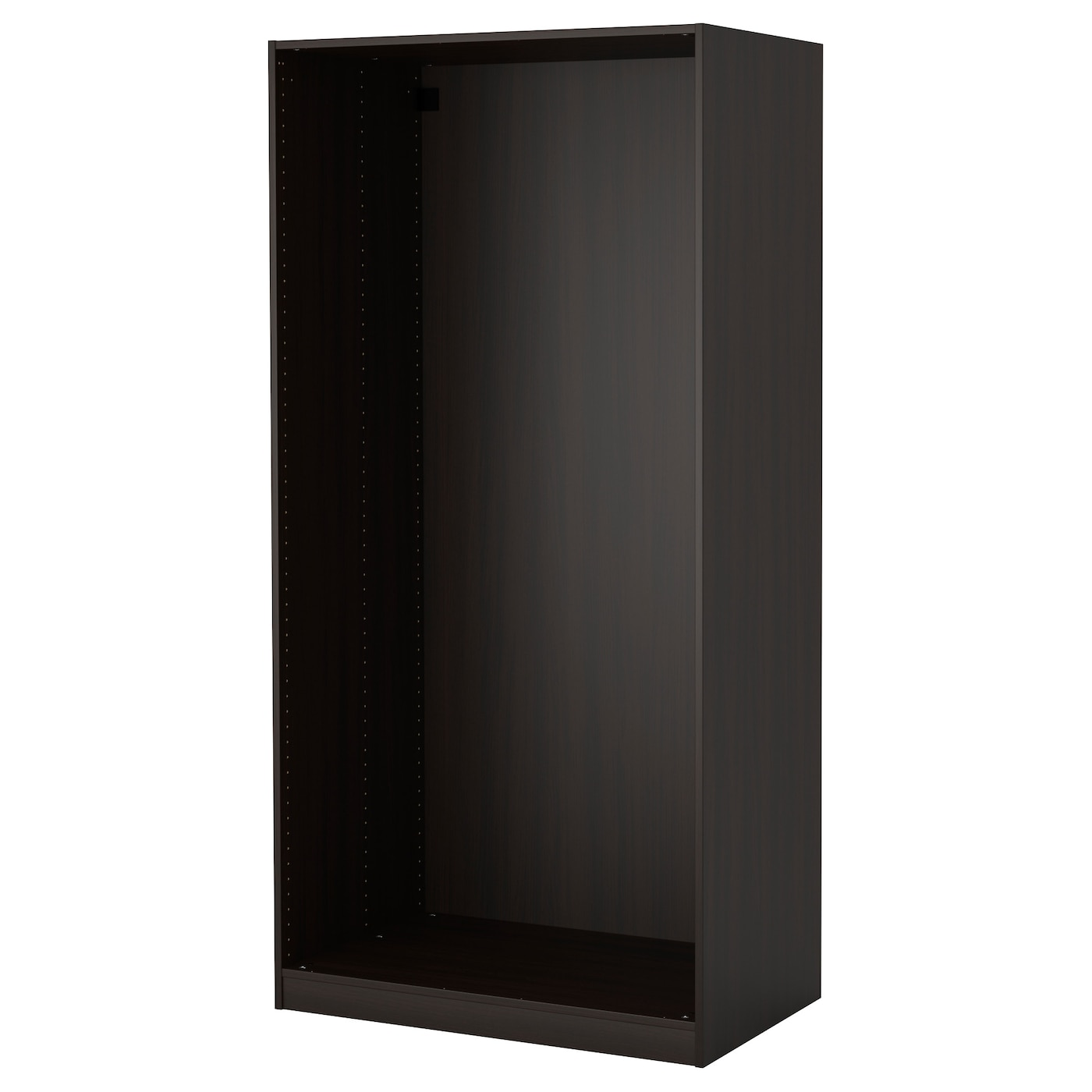 pax wardrobe frame black brown 100 x 58 x 201 cm ikea. Black Bedroom Furniture Sets. Home Design Ideas