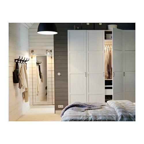 pax wardrobe white hemnes white 200x60x236 cm ikea. Black Bedroom Furniture Sets. Home Design Ideas