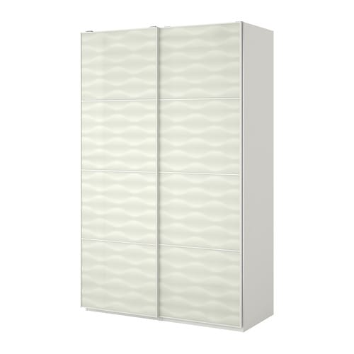 pax wardrobe white innfjorden white glass 150x66x201 cm ikea. Black Bedroom Furniture Sets. Home Design Ideas