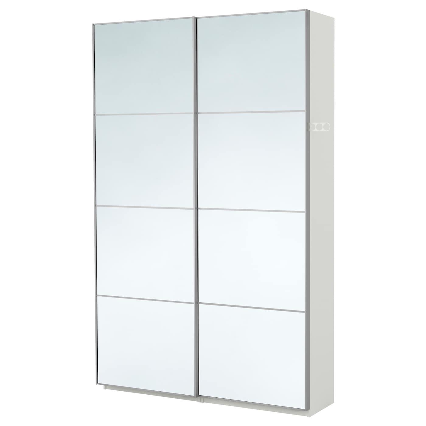 PAX Wardrobe Whiteauli Mirror Glass Xx Cm IKEA - Ikea wardrobe