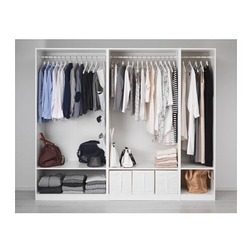 pax wardrobe white ballstad white 250x60x201 cm ikea. Black Bedroom Furniture Sets. Home Design Ideas