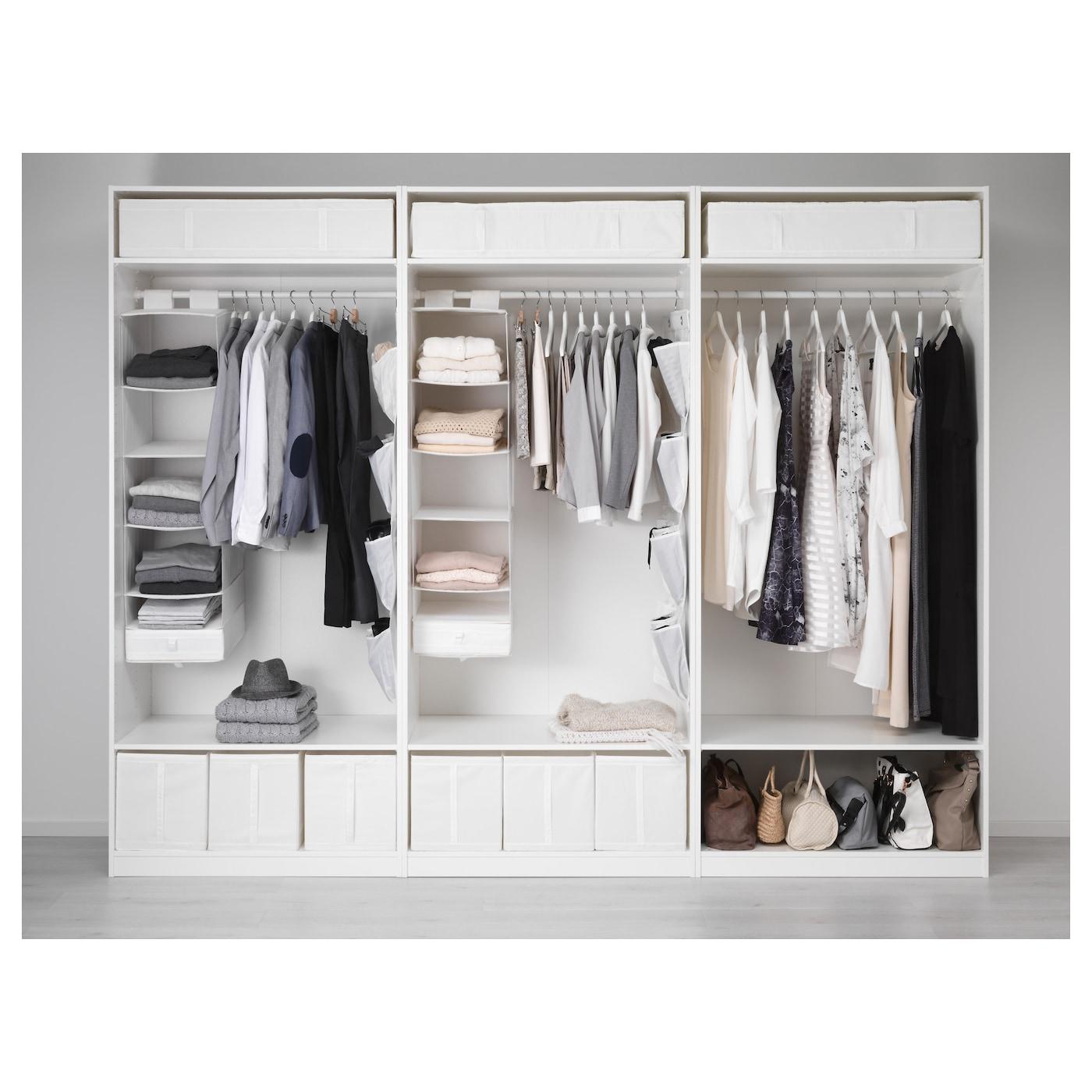 Kleiderschrank ikea pax  PAX Wardrobe White/bergsbo vikedal 300x60x236 cm - IKEA