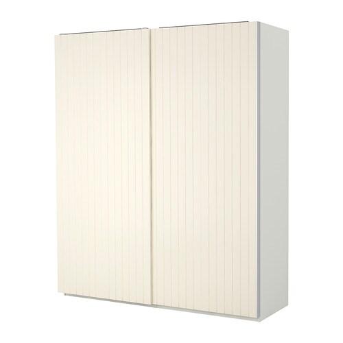pax wardrobe white bergsfjord white 200x66x201 cm ikea. Black Bedroom Furniture Sets. Home Design Ideas
