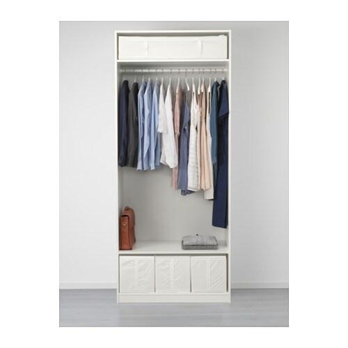 pax wardrobe white flisberget red brown 100x60x236 cm ikea. Black Bedroom Furniture Sets. Home Design Ideas