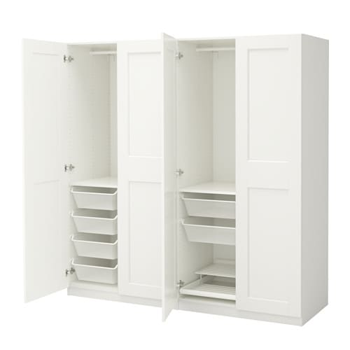 pax wardrobe white grimo white 200x60x201 cm ikea. Black Bedroom Furniture Sets. Home Design Ideas