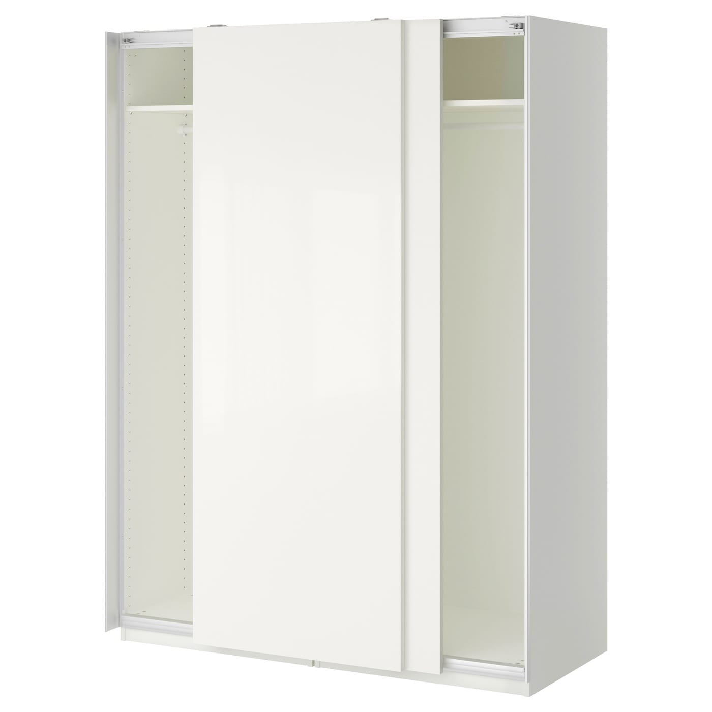 pax wardrobe white hasvik white 150x66x201 cm ikea. Black Bedroom Furniture Sets. Home Design Ideas