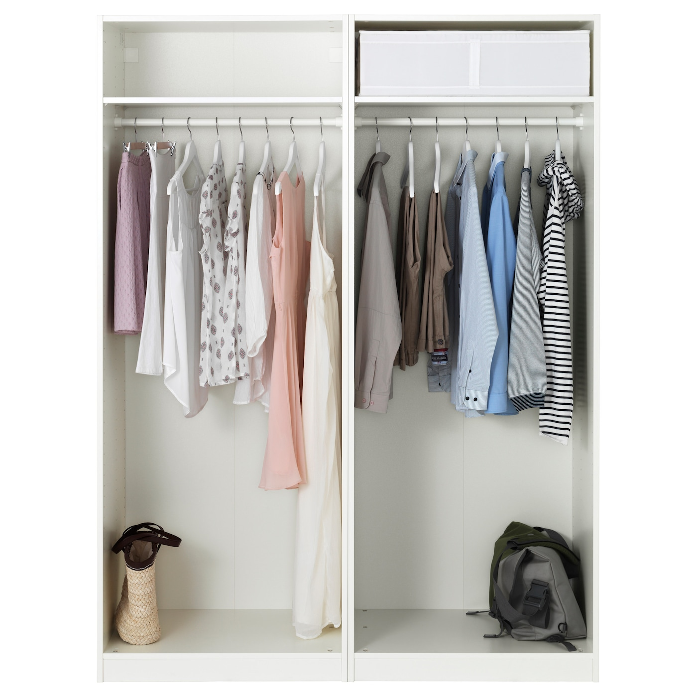 PAX Wardrobe White hasvik white 150x66x201 cm IKEA