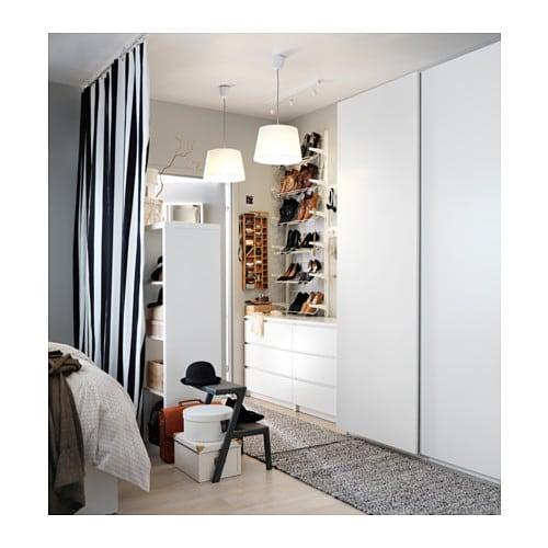 PAX Wardrobe White/hasvik white 200x66x236 cm - IKEA