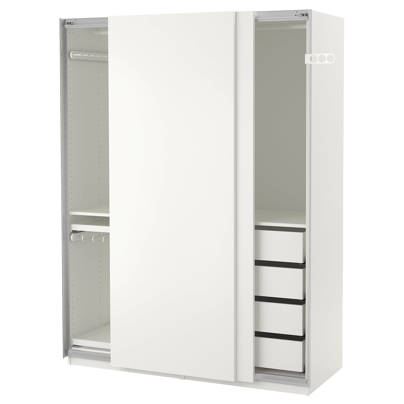 pax wardrobe white hasvik white pax wardrobe white hasvik white 150x66x201 cm ikea pax. Black Bedroom Furniture Sets. Home Design Ideas