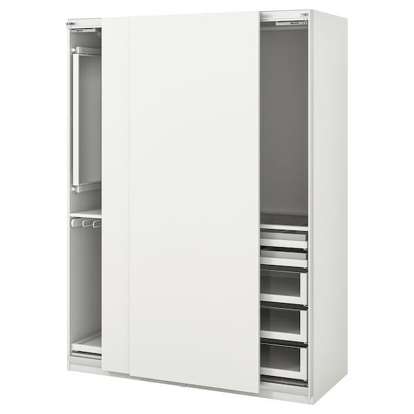PAX Wardrobe, white/Hasvik white, 150x66x201 cm