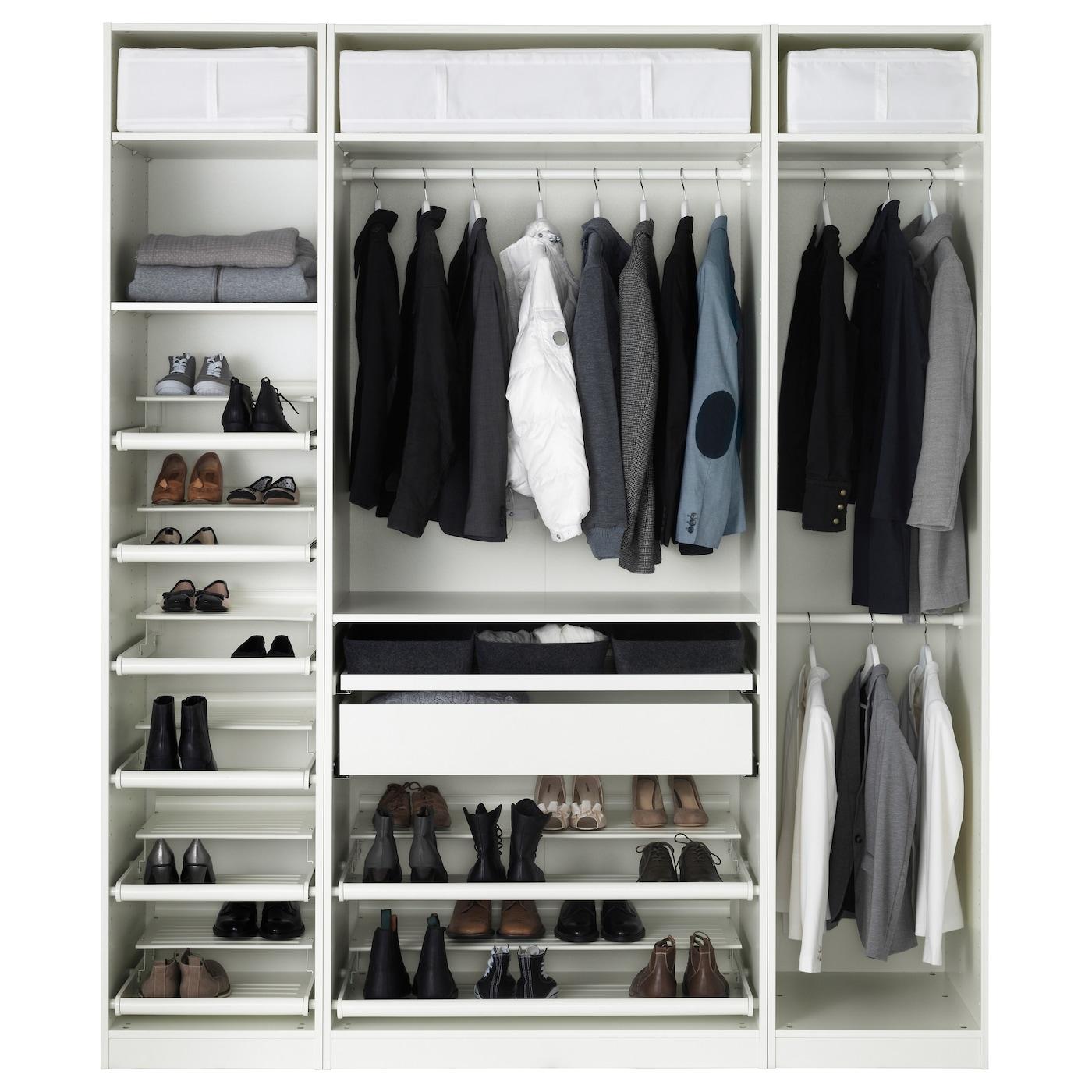 Pax wardrobe white hemnes white stain 200x60x236 cm ikea for Ikea pax planen
