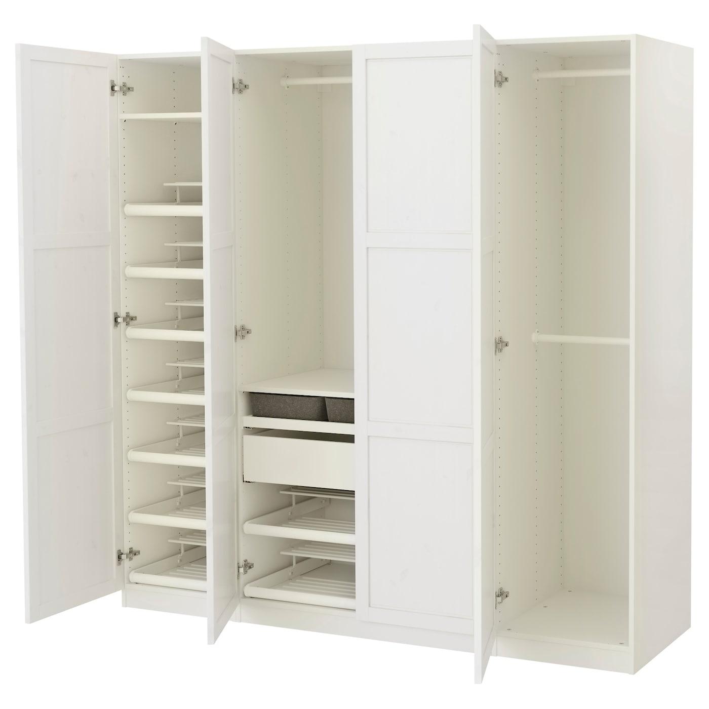 PAX Wardrobe White hemnes white stain 200x60x201 cm IKEA
