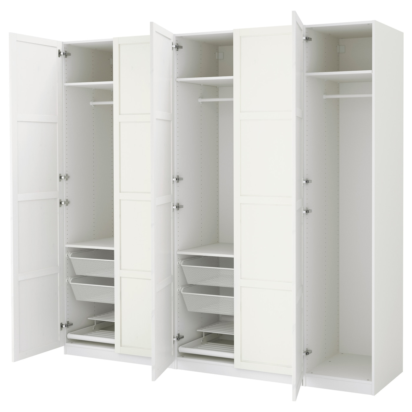 pax wardrobe white hemnes white stain 250x60x236 cm ikea. Black Bedroom Furniture Sets. Home Design Ideas