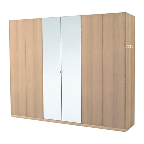 pax wardrobe white stained oak effect nexus vikedal 300x60x201 cm ikea. Black Bedroom Furniture Sets. Home Design Ideas