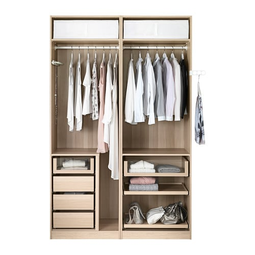 pax wardrobe white stained oak effect mehamn white 150x66x236 cm ikea. Black Bedroom Furniture Sets. Home Design Ideas