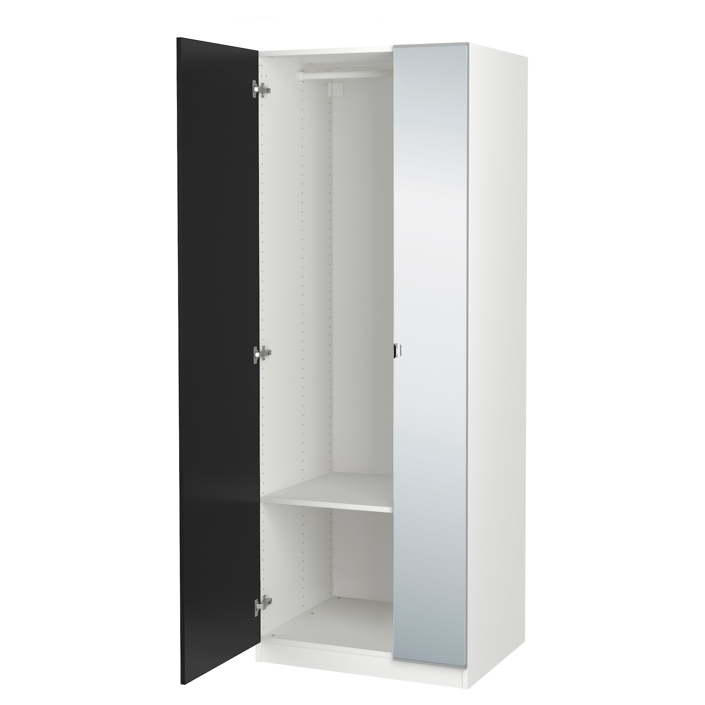 pax wardrobe white tanem vikedal 75x60x201 cm ikea. Black Bedroom Furniture Sets. Home Design Ideas
