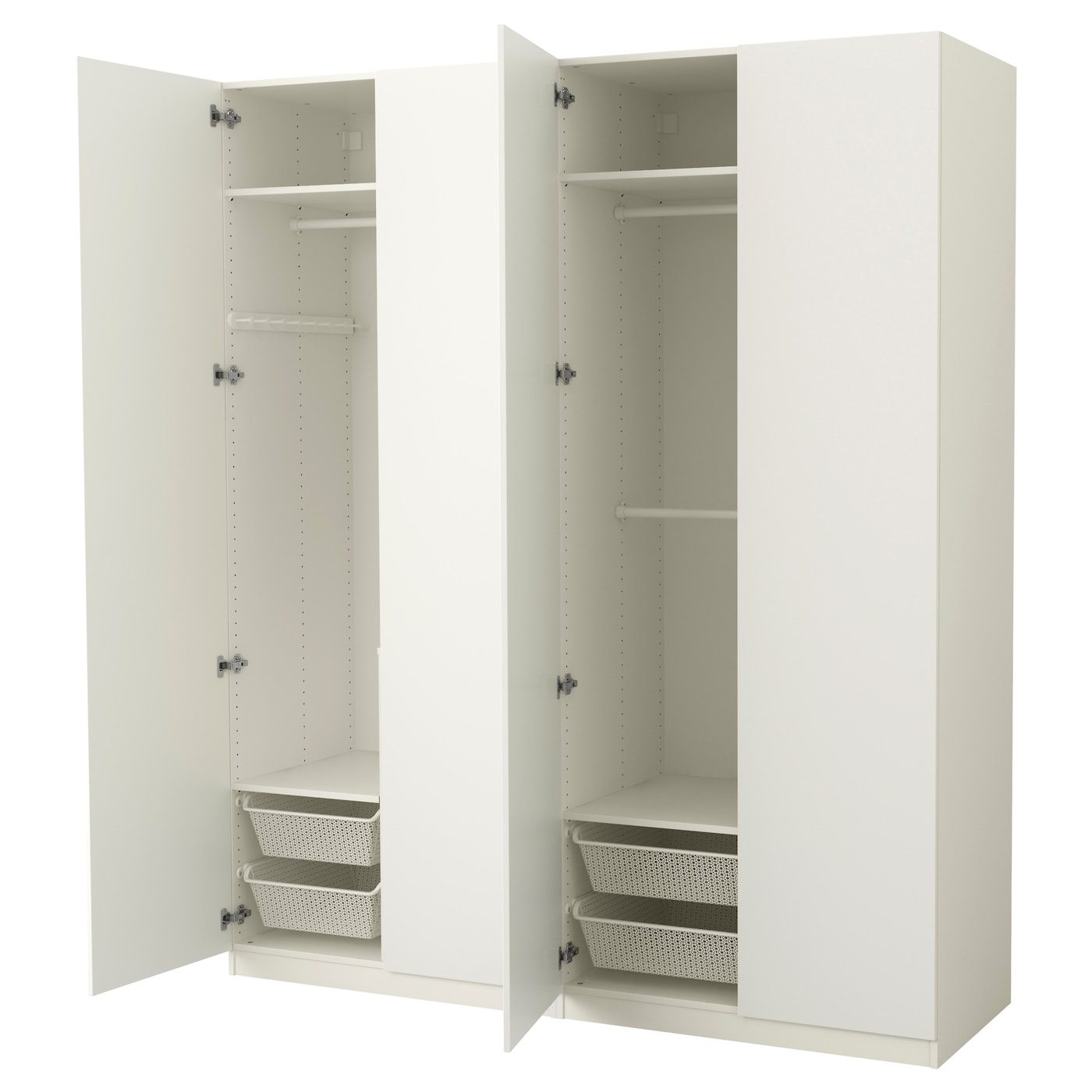 pax wardrobe white tanem white 200x60x236 cm ikea. Black Bedroom Furniture Sets. Home Design Ideas
