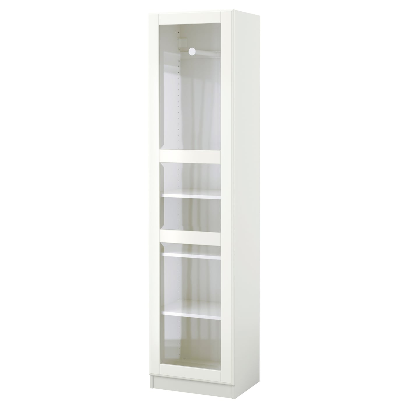 pax wardrobe white tyssedal glass 50 x 38 x 201 cm ikea. Black Bedroom Furniture Sets. Home Design Ideas