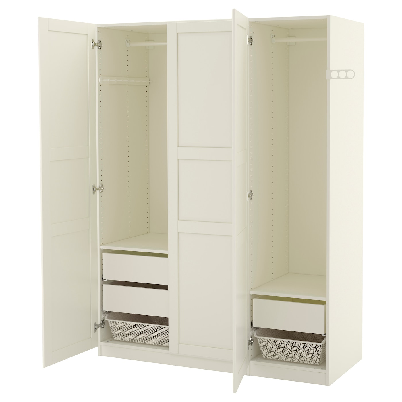 pax wardrobe white tyssedal white 150x60x201 cm ikea. Black Bedroom Furniture Sets. Home Design Ideas