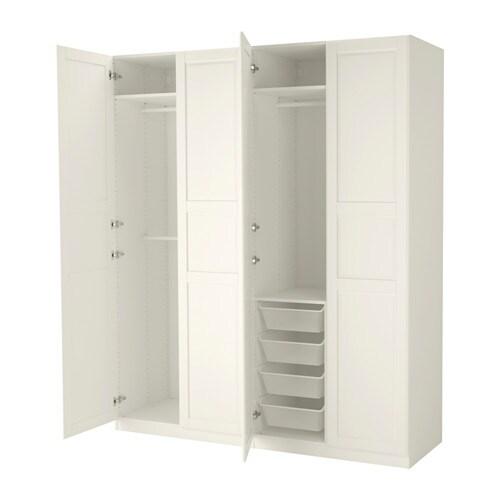PAX Wardrobe Whitetyssedal White 200x60x236 Cm IKEA