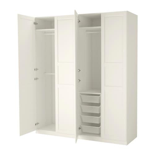 PAX Wardrobe Whitetyssedal white 200x60x236 cm IKEA : pax wardrobe white tyssedal white0341512pe528926s4 from www.ikea.com size 500 x 500 jpeg 19kB
