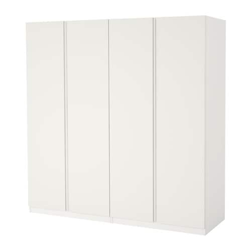 pax wardrobe white vikanes white 200x60x236 cm ikea. Black Bedroom Furniture Sets. Home Design Ideas