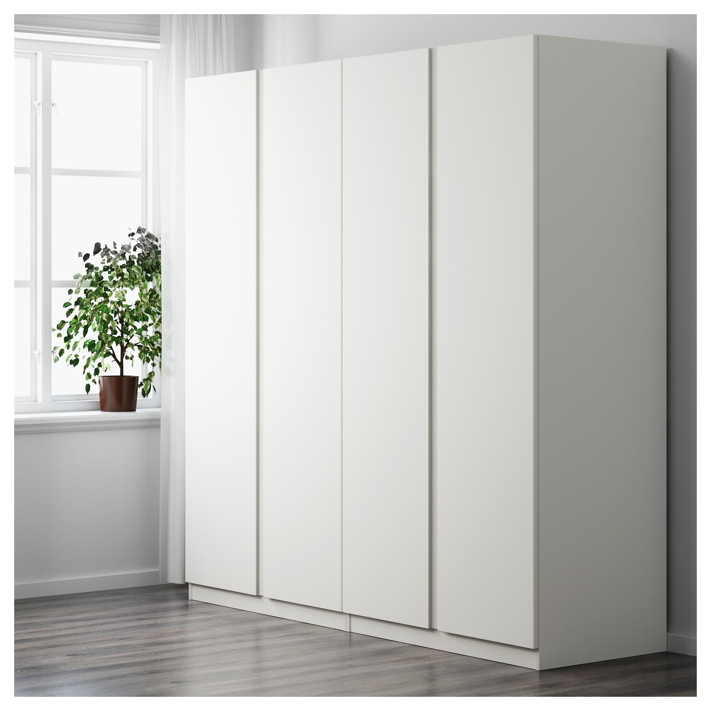 pax wardrobe white vikanes white 200x60x201 cm ikea. Black Bedroom Furniture Sets. Home Design Ideas