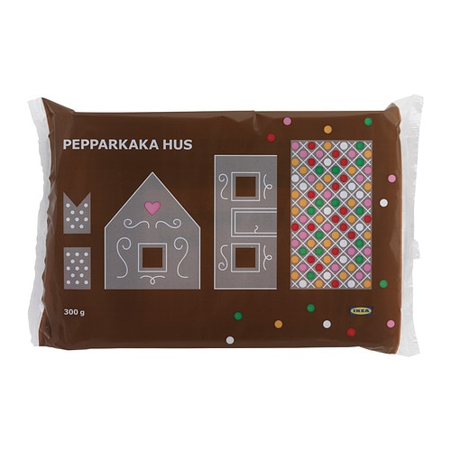 PEPPARKAKA HUS Gingerbread house IKEA A model house built in Swedish homes around Christmas, made of baked gingerbread dough.