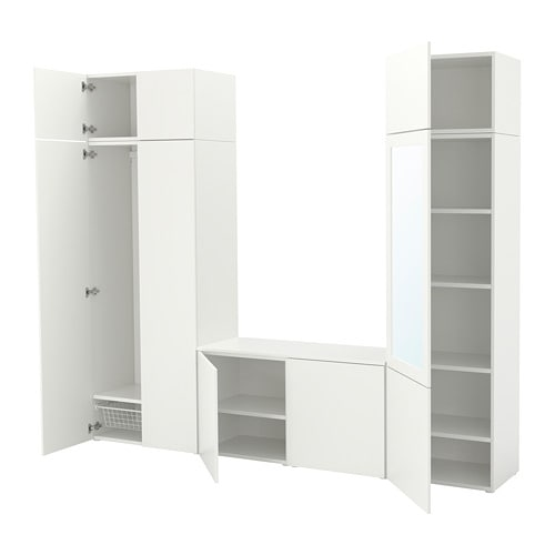platsa wardrobe white fonnes ridabu 260 x 42 x 221 cm ikea. Black Bedroom Furniture Sets. Home Design Ideas