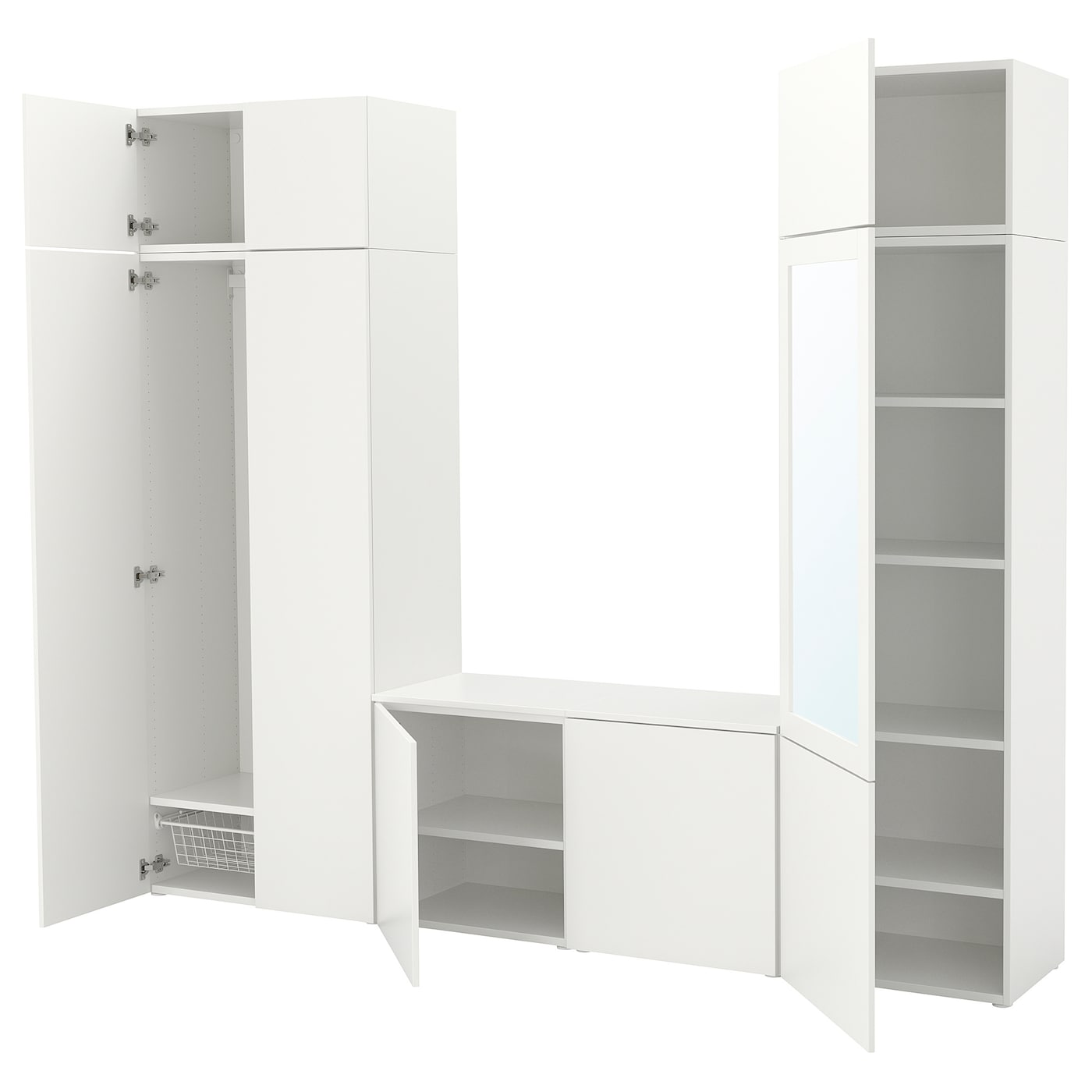 IKEA PLATSA wardrobe Adjustable feet make it possible to compensate any irregularities in the floor.