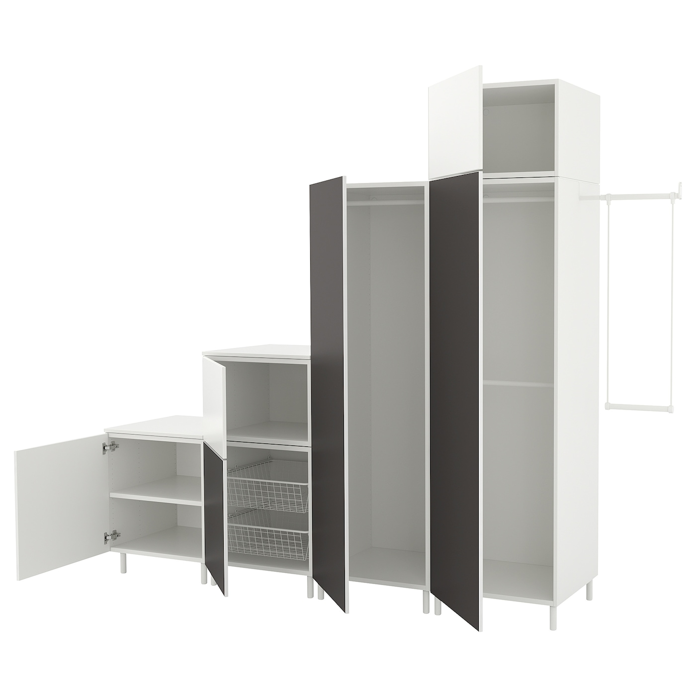 platsa wardrobe white fonnes skatval dark grey 275 300 x 57 x 231 cm ikea. Black Bedroom Furniture Sets. Home Design Ideas