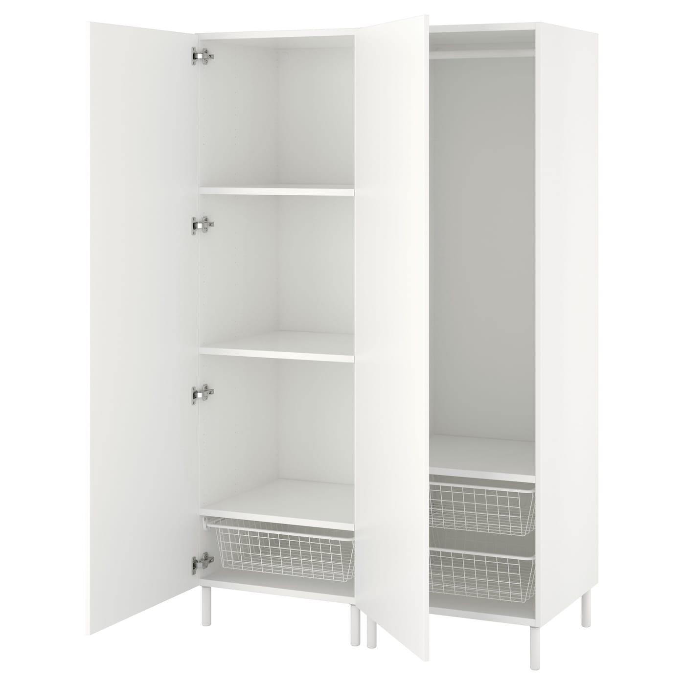 platsa wardrobe white fonnes white 120 x 57 x 191 cm ikea. Black Bedroom Furniture Sets. Home Design Ideas