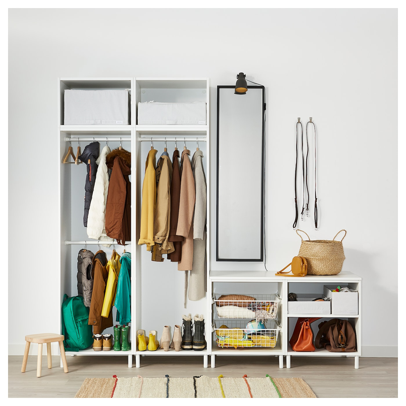 IKEA PLATSA wardrobe Fits perfectly under a sloping ceiling or a staircase.